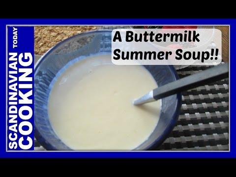 Kærnemælkskoldskål – Buttermilk koldskål – Danish cold summer dessert soup