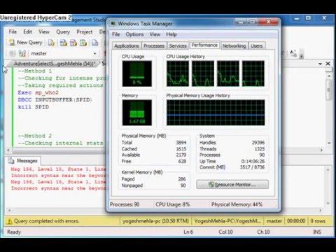 SQL server 100% CPU usage fix