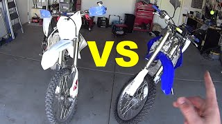 10. Yamaha WR450F VS YZ250F , how are they different