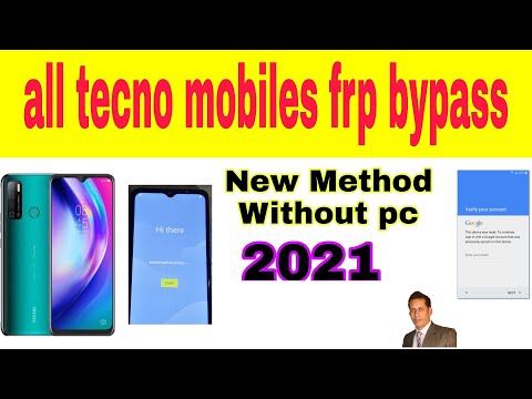 All Tecno Mobile FRP Unlock/ Google Account Bypass 2021 || ANDROID 9  10 | New Method (Without PC)