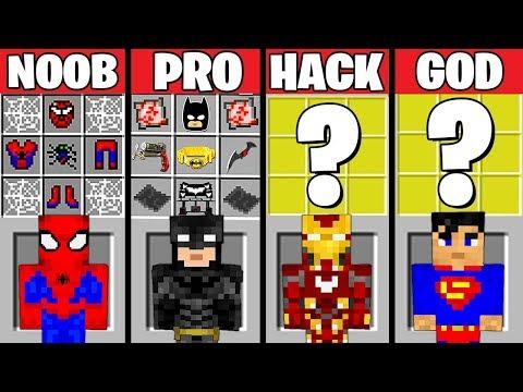 Trận chiến Minecraft: siêu anh hùng tạo ra THỬ THÁCH - NOOB vs PRO vs HACKER vs GOD hoạt hình - Thời lượng: 14:48.