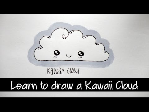 Learn to Draw a Kawaii Cloud Step by Step