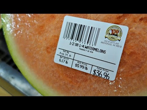 When you live in the artic circle, half a watermelon cost $37.00