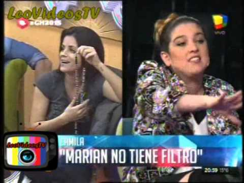 Camila se unio a las criticas contra Marian del otro grupo GH 2015 #GH2015 #GranHermano
