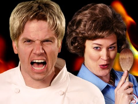 Gordon Ramsay and Julia Child Face Off in Epic Rap Battles of