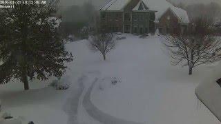 Jonas 2016 Snow storm Time-lapse