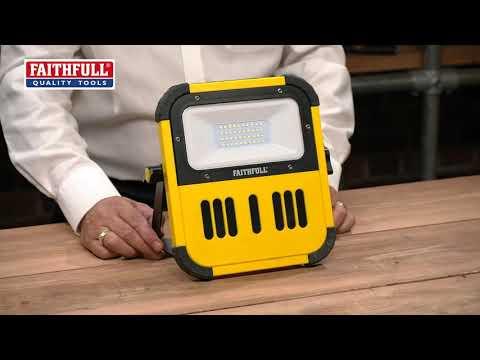 Faithfull Power Plus Bluetooth® Cordless Tripod Site Light Video