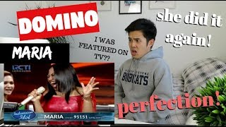 "Video MARIA - ""DOMINO"" (Indonesian Idol 2018) Spekta Show TOP 5   (Reaction Video) MP3, 3GP, MP4, WEBM, AVI, FLV Juni 2018"