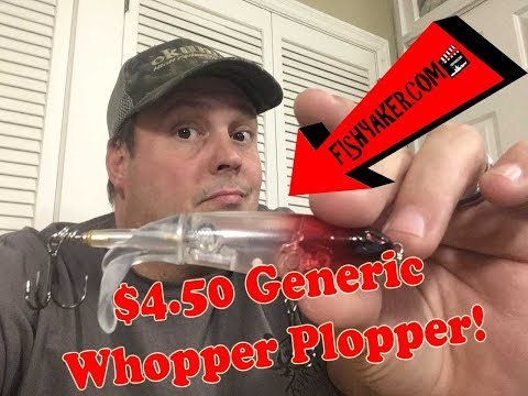 $4.50 Generic Whopper Plopper Fishing Lure - LIVE!