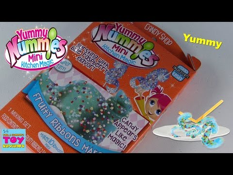 Yummy Nummies Fruity Ribbon Maker | Mini Kitchen Magic Candy Shop Review  | PSToyReviews