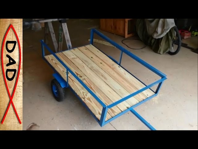 Diy-lawn-mower-trailer
