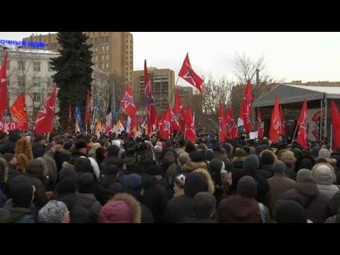 Ρωσία: Διαδήλωση στη Μόσχα για τις νήσους Κουρίλες