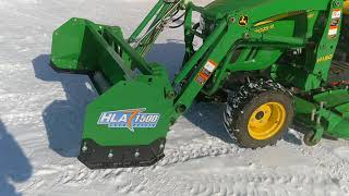 5. John Deere Tractor Snow Removal Option: The Snow Pusher