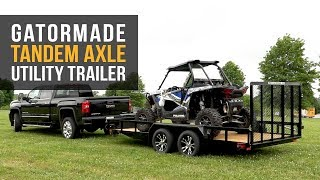 2. Gatormade Tandem-Axle Utility Trailer - Features Review