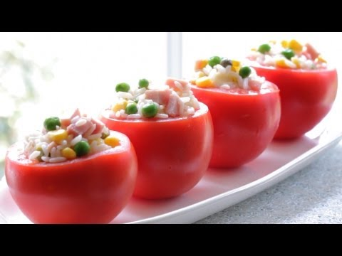 Stuffed tomatoes with rice and veggies +12 Months recipe