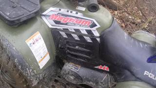4. riding a 05 polaris magnium 330 spark plug wire goes bad