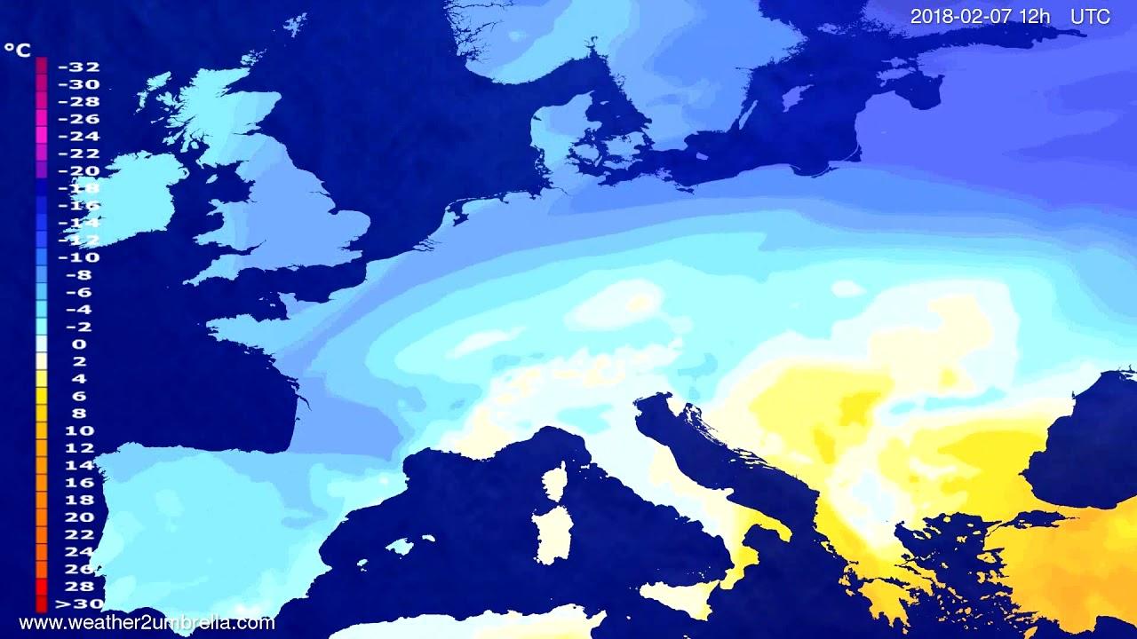 Temperature forecast Europe 2018-02-05
