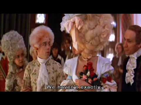 amadeus - In my opinion these are quite funny moments in the movie. Enjoy it^^