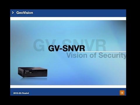 GeoVision - Training Lecture - #35 GV-SNVR