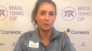 Paula Gonçalves lamenta dedo fraturado no Brasil Tennis Cup