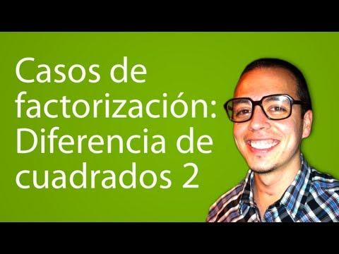 Casos de factorización: Diferencia de cuadrados 2