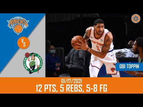 Obi Toppin's Full Game Highlights: 12 PTS, 5 REBS, 5-8 FG vs Celtics | 20-21 NBA Season | 01/17/2021