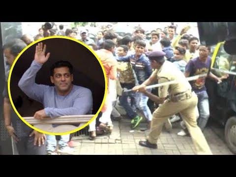 Salman Khan FANS Beaten Lathi Charge Outside Salma
