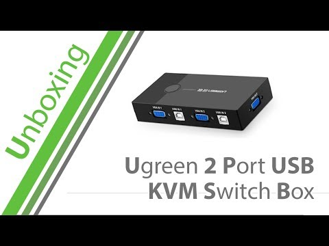 Unboxing - Ugreen 2 Port USB KVM Switch Box - German / Deutsch