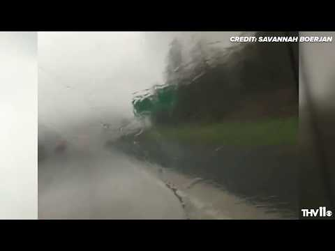 Couple survives scare with tornado in northwest Arkansas