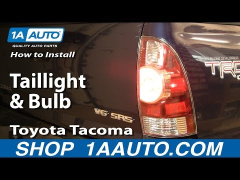 How To Install Replace Taillight and Bulb Toyota Tacoma 05-12 1AAuto.com