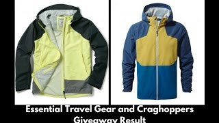 In this video, I go over what is essential travel gear for the readers of my blog who entered the Craghoppers giveaway. I also pick the winner, and announce the result. During the video, I mention packing cubes once or twice. If you don't know what they are, please check them out here: http://www.davestravelpages.com/Packing-Cubes-for-Travel-Travel-Packing-Tips/