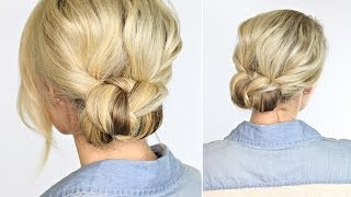 Beautiful Braided Bun | takes less than 2 minutes!