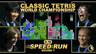First to 19 Speedrun Round 1 - TETRIS RACE!