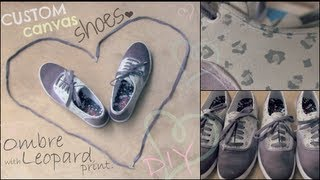 Ombre Shoes - How To - Hand Painted with Leopard Print - YouTube