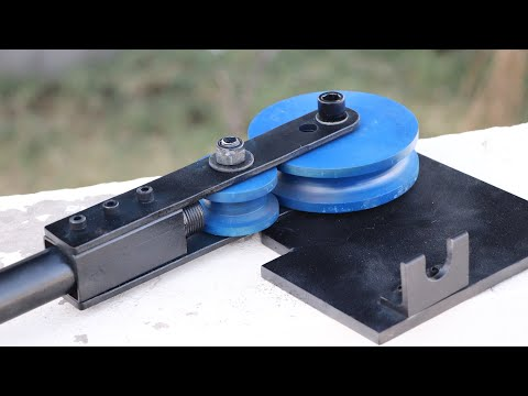 How To Make A Pipe Bender || DIY Round Pipe Bending Machine