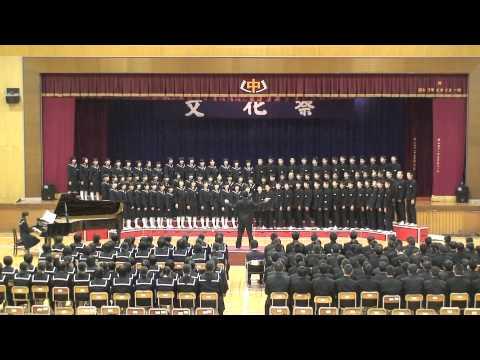 平成26年度宇和島市立津島中学校文化祭 学年合唱(3年) 曲名「走る川」