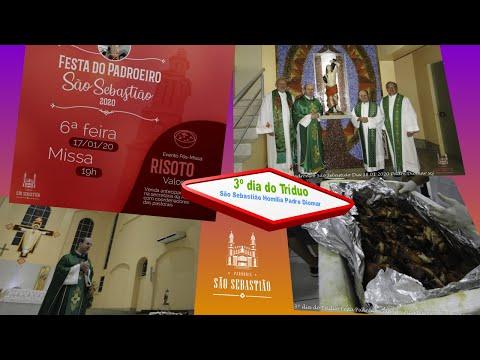 HOMILIA  3º dia Festa do Padroeiro São Sebastião Dia 18 01 2020 Pe Diomar Romanovic scj
