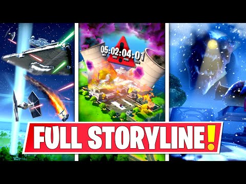 *NEW* FULL CHAPTER 2 *STORYLINE* IN FORTNITE SO FAR! SNOW STORM, STARWARS, COUNTDOWN & MORE!: BR
