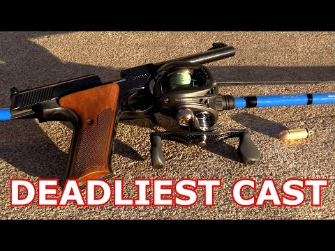 CASTING TRICK SHOT WITH A .45ACP / DEADLIEST CAST