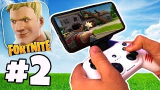 PLAYING FORTNITE ON IPHONE WITH CONTROLLER | Fortnite IOS/Android Gameplay Part 2
