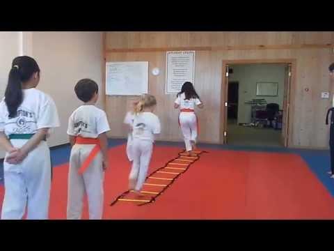 Hampton's Karate Academy - Footwork Drills 01