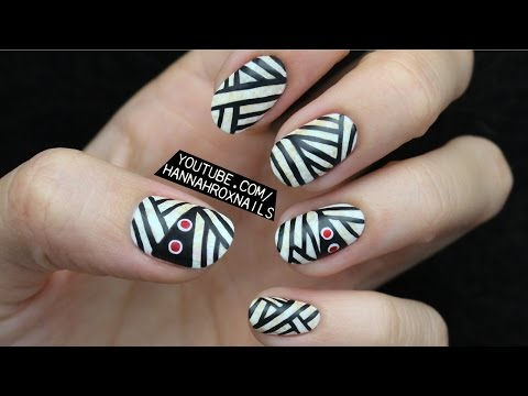 Cool and Easy Halloween Mummy Nail Art