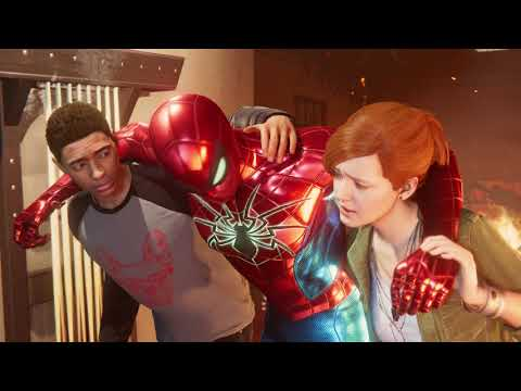 Miles Morales Saves Spider-Man Cutscene - SPIDER-MAN PS4
