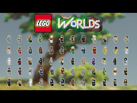 LEGO WORLDS - Tous les Personnages !