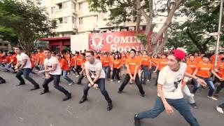 POPEYES FLASHMOB - 365 và Tăng Thanh Hà nhảy Chicken Dance