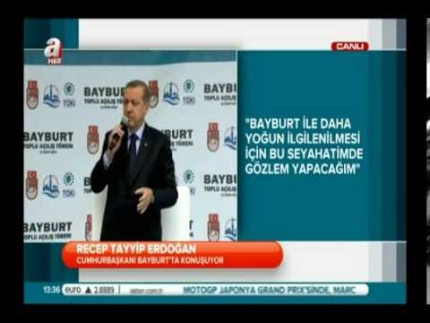 Cumhurbaşkanı Bayburtta