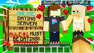 "I Joined a ""ONLINE DATING"" GOLD DIGGER Minecraft Server and SAW THIS!"