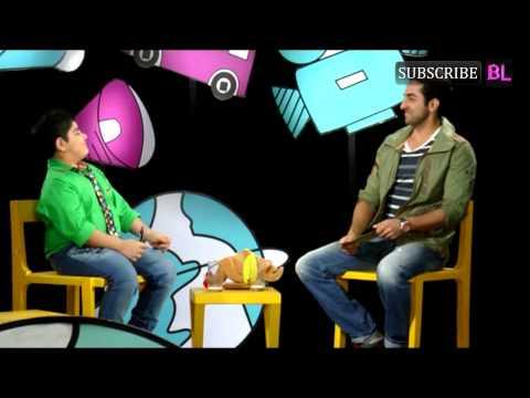 Ayushman Khurana on set of Disney Chat Show Captai