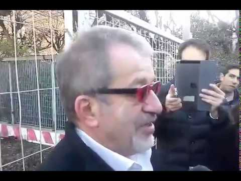 Como, visita del Governatore Maroni al cantiere delle paratie