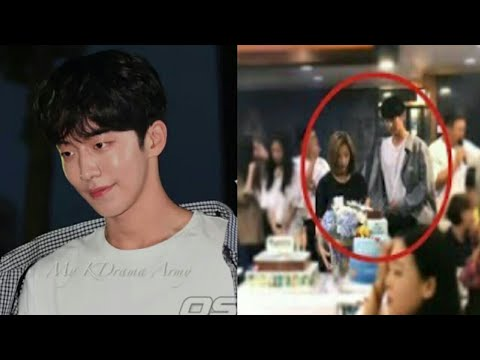 170825 Nam joo hyuk spotted stressed at Bride of the water God wrap up party.